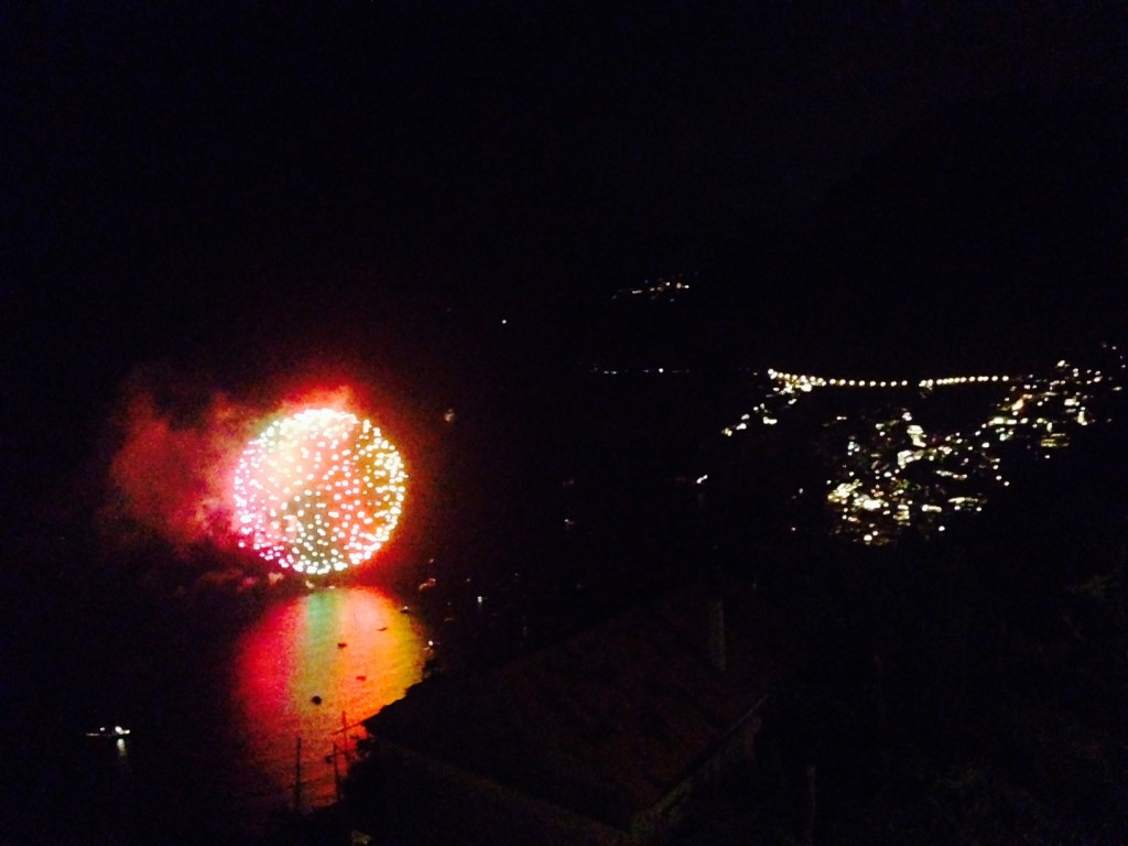 The fireworks in Positano's bay were a perfect end to a perfect trip.