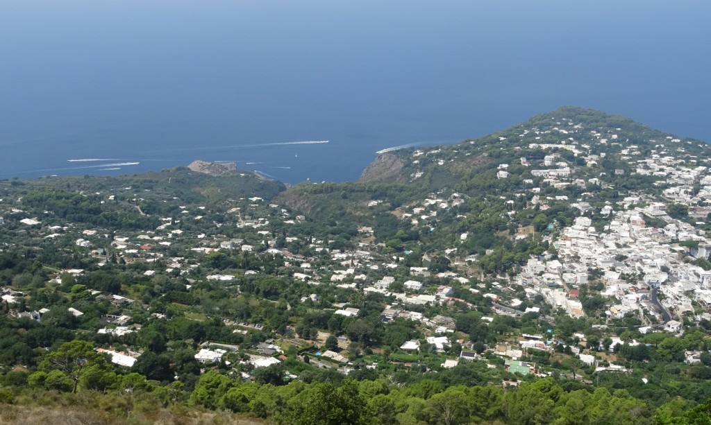The view from the famous Capri chairlift. It's even better from the top.