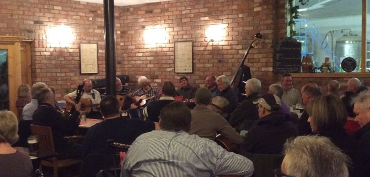 A packed room listens to The Sly Old Dogs. A big thank you to all!