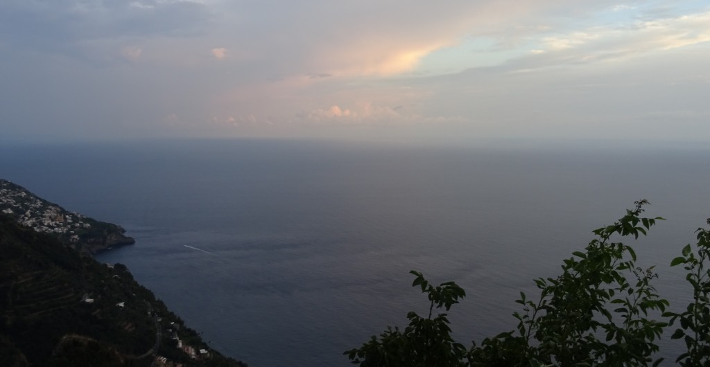 This was the view from our balcony in the village of Nocelle, above Positano.