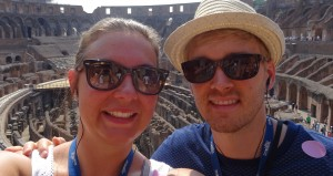 Enjoying the Colosseum
