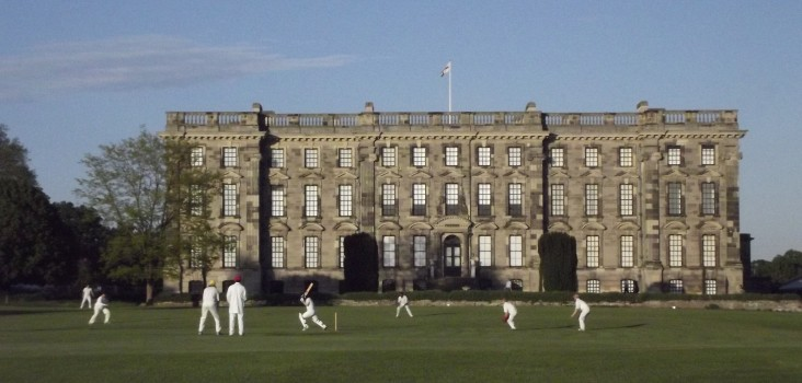 Britain's Loveliest Ground 2013: A game of cricket at Stoneleigh Abbey.
